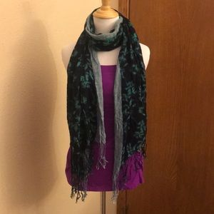 Accessories - Green and Blue Tie Dye Scarf